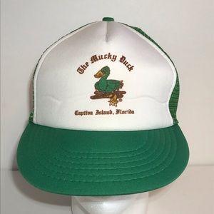 Vintage The Mucky Duck Mesh Trucker Snapback Hat